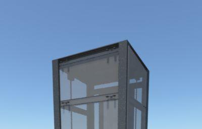 工地施工�梯,透明�^光梯maya模型,MB,FBX�煞N格式