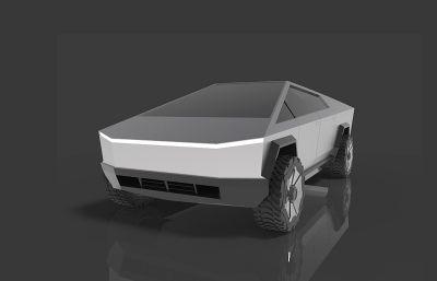 Cybertruck特斯拉皮卡STP格式模型素模