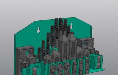 �床用螺柱�A具Solidworks�D�模型,附STP,IGS格式