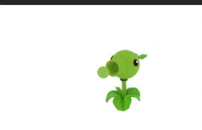 豌豆射手maya2019模型