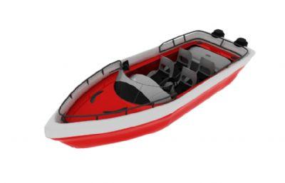 船,4座快艇游艇maya模型