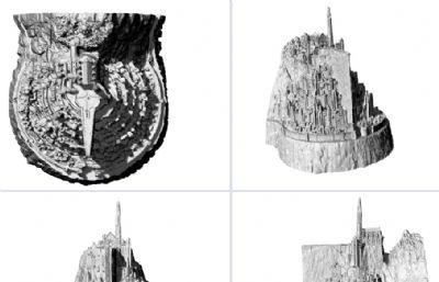 米那斯提力斯,刚铎首都3D打印模型,STL格式