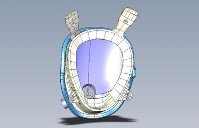 �Ш粑�孔的防毒防�F霾防�o面罩STP�D�模型