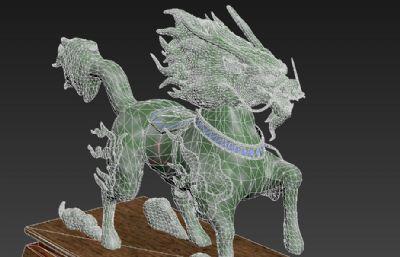 翡翠玉雕麒麟3D模型