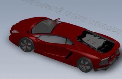 蘭博基尼車殼外型solidworks圖紙模型