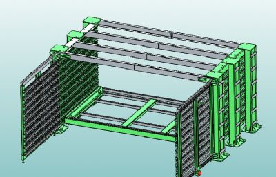 可伸�s展�_�架STEP格式�D�模型
