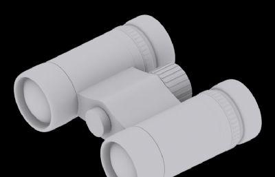 望遠鏡3D模型(白模)