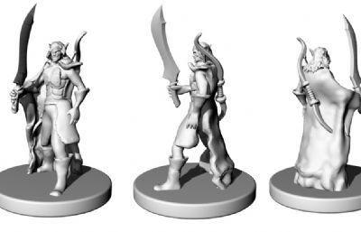 弓箭手STL模型,可3D打印