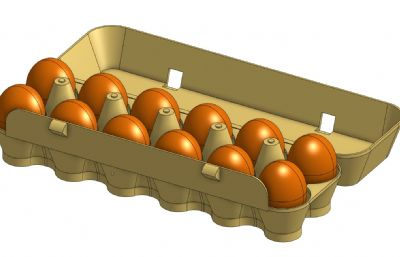 ��|�u蛋盒,�u蛋托�PSTEP格式模型