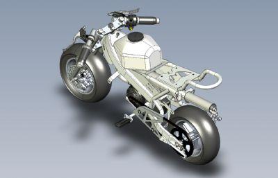 �p便摩托�,�C�Solidworks�D�模型,附STEP,IGS格式