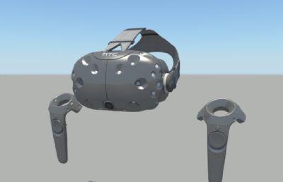 HTC vive2.0 虛擬現實頭盔,VR頭盔,VR眼鏡,手柄全套maya模型