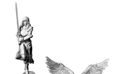 大天使STL模型
