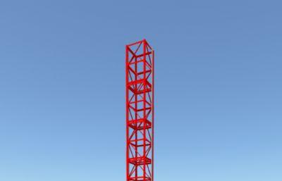 工地施工�梯,建筑�\��C械maya模型,MB,FBX,OBJ三�N格式