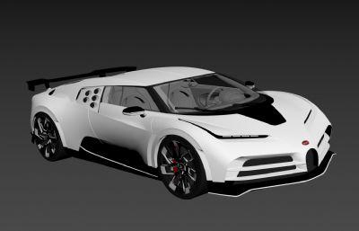 布加迪威��Centodieci跑�2020款3D模型,MAX,FBX�煞N格式