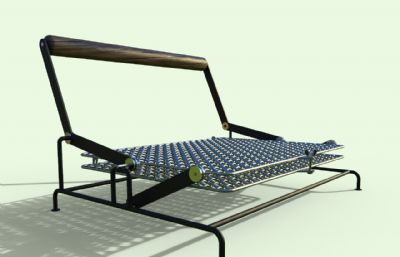 可折�B��z底座座椅靠背椅STP格式模型