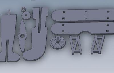 �易�w�C拼�b�M合玩具solidworks�O�模型,附step格式