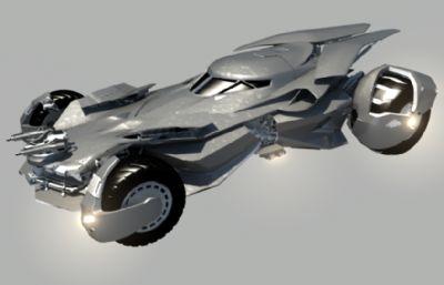 超人VS蝙蝠俠中新一代蝙蝠戰車maya電影級精細建模,有mb和obj兩種格式