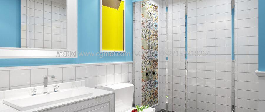 �l浴,洗手�g3D模型