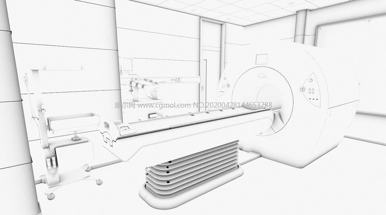 核磁共振�x,CT�t��器械3D模型,�o�N�D