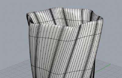 玻璃杯,螺�y水杯-犀牛建模
