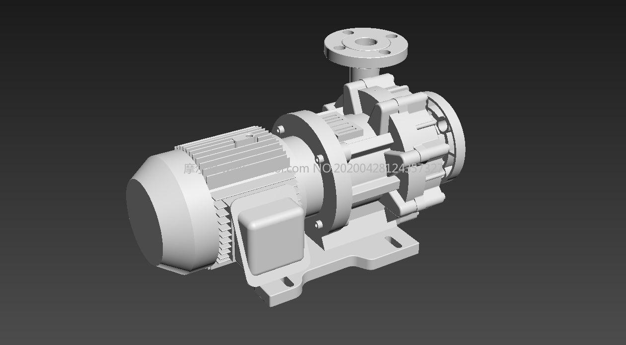 水泵fbx格式精�模型