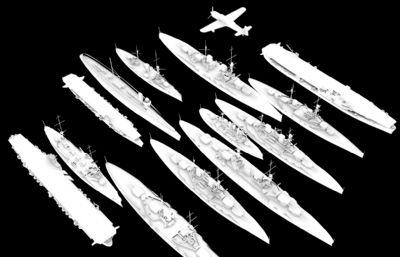 布�涡����,沙恩霍斯特�等13款�船��OBJ模型