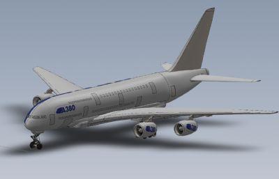 A380大型商用�w�CSolidworks�O��D�模型