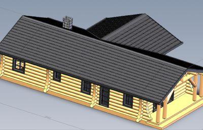 木屋,�r村房子Solidworks�D�模型