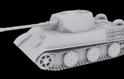 德系VK 2801輕型坦克3D模型