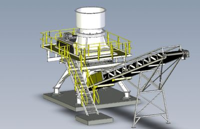 破碎機+輸送平臺STP格式模型