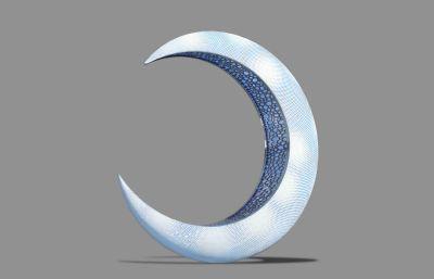 鏡花緣雕塑設計3D模型