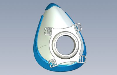 水滴型面罩STEP格式模型