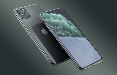 iPhone 11 Pro Max手�C渲染模型(ksp+stp),keyshot渲染