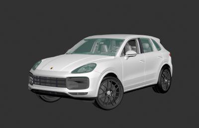 保�r捷Cayenne卡宴Turbo汽�3D模型,��蕊�,MAX,FBX�煞N格式