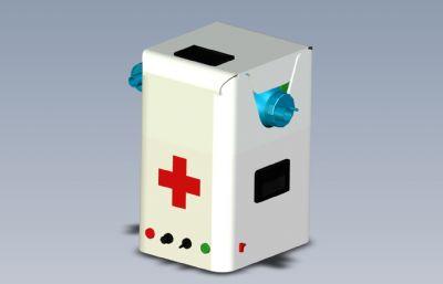 醫用呼吸機簡易模型,STP,IGS格式