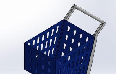 超市手推�STEP格式模型