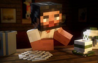 我的世界-Minecraft酒吧吧�_C4D模型