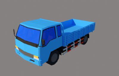 藍色貨運卡車su模型