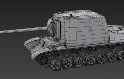 蘇系SU-100Y殲擊車3D模型