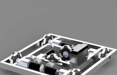 全向輪機器人車STEP格式模型