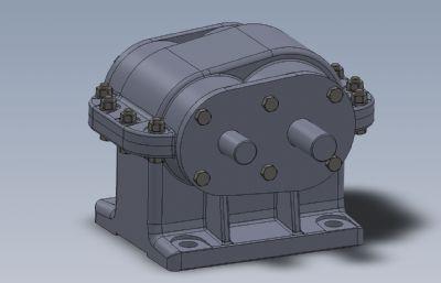 ��S上的一��A柱直�X�箱3Solidworks�D�模型,附STEP,IGS格式