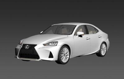 雷克薩斯IS 200汽車3D模型,帶內飾