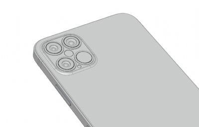 iPhone 12概念手機渲染模型(ksp+stp),keyshot9渲染