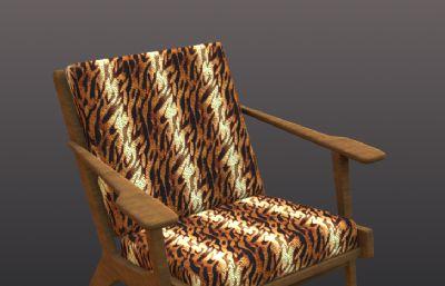 虎�y布�休�e椅3D模型