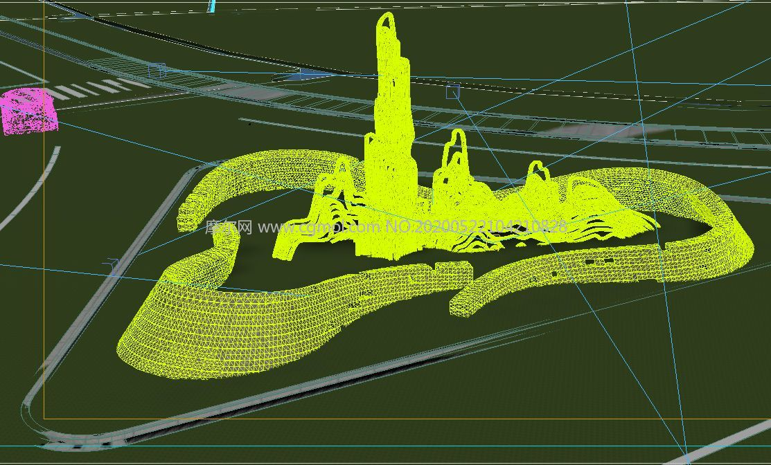 �G水青山就是金山�y山小品�O�3D模型