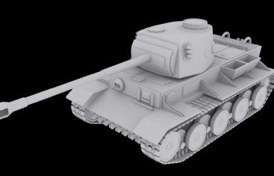 德系VK 36.01重型坦克3D模型素模