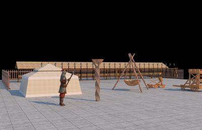 古代��I��件,��づ�,�R槽等�鼍�3D模型