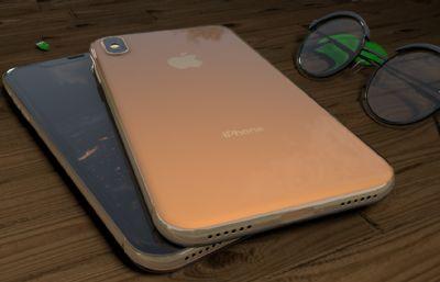 iphonex和眼�R�o物�鼍�maya模型素模