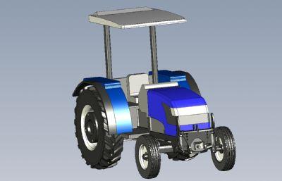 拖拉�C模型,IGS格式