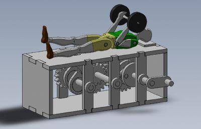 人偶�P躺�e重玩具solidworks模型,附SKP,IGS,STEP格式文件
